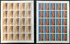 Cook Is. #862,863 2 Sheets of 25 Locomotives 1985 MNH