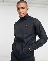 Ellesse Mens Zip Up Jacket In Black Track Top Lazzarato High Neck Medium RRP £75