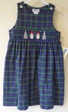 Brand New Silly Goose Smocked Snowmen Jumper / Dress Girl's Size 6