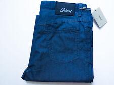 $650 BRIONI Blue Brushed Cotton Pants Jeans Slacks Size 32 US 48 Euro