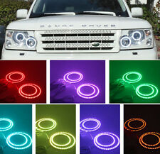 RGB LED 4 Halo Rings For Range Rover L322 2002-2009 Demon Devil Angel Eyes DRL