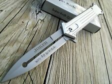 "8"" Tac Force White Handle Joker Why So Serious? Camping Outdoor Pocket Knife"