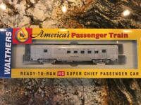 Walthers HO 932-9007 Santa Fe Super Chief - Budd 63' RPO 89-98 Series - NEW!