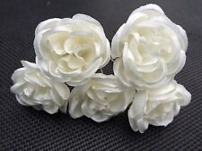 5 Bridal Wedding Ivory  Rose  Hair Pins Clips Grips handmade