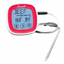 Escali Touch Screen Digital Read Thermometer & Timer Probe, Red - DHR1-R