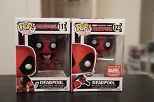 Funko Pop Marvel Deadpool Set Of 2 MCC Leaping Collector Corps Exclusive