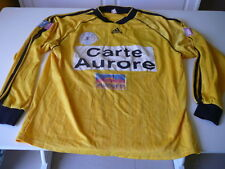 maillot de foot coupe de France Adidas jaune Carte Aurore  TF1  XL porté