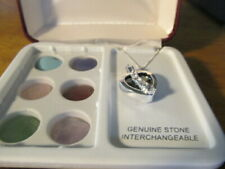 new in its original box sterling new necklace interchangeable stones