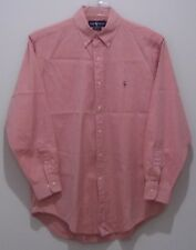 Ralph Lauren Yarmouth Dress Shirt Mens 15.5 32-33 Chambray Cotton Red 1802