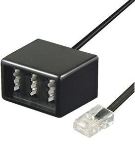 RJ45 TAE Festnetz Telefon Adapter Extender Kupplung 0,20m Verteiler NFN