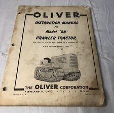 Vintage Oliver Instruction Manual Model Bd Crawler Tractor 1955 Repair Book