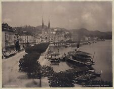 Lucerne Luzern Suisse Switzerland 2 Photos photomécanique c. 1900