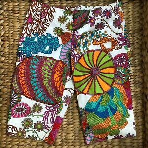 Trina Turk Multi-Color Print Bermuda Shorts Women's Size 4