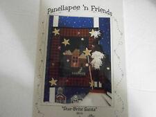 "Star-Brite Santa Christmas Mini Quilt Sewing & 10"" Santa Pattern 1992 House"