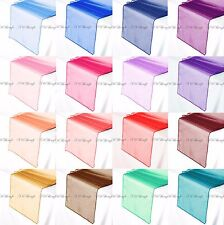 Organza Table Runner 280cm Long x 30cm Wide (110 inch x 12 inch) Various Colours