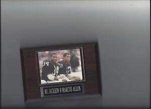 BO JACKSON & MARCUS ALLEN PLAQUE OAKLAND RAIDERS LA FOOTBALL NFL