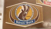 OLD GERMAN BEER LABEL, BRAUEREI BARENBIER BERLIN GERMANY, BAREN BOCK 2