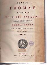 sancti thomae aquinatis- opera omnia - tomus XIX - 1865 copmarmorz-armspogl