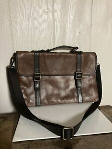 Fossil Leather Portfolio Briefcase messenger bag