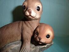 Seal pups porcelain Masterpiece Homco 1981 Mexico