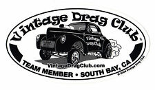 Drag Racing NHRA Sticker Decals Gasser 8 inch oval