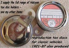 Halcyon 273 Disco De Impuestos Soporte de Disco acero enchapada en cromo Trasera De Acero Inoxidable Borde