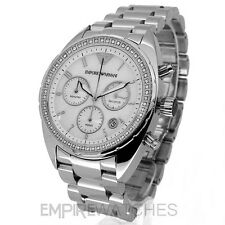 *NEW* LADIES EMPORIO ARMANI SWAROVSKI CHRONOGRAPH WATCH - AR5959 - RRP £325