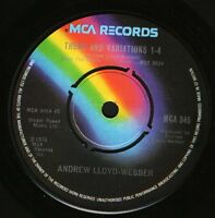 """ANDREW LLOYD WEBBER theme and variations 1-4/variations 16 MCA 345 uk 7"""" WS EX/"""