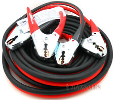 25FT 2 Gauge Booster Cable Jumping Cables Power Jumper 600AMP HEAVY DUTY