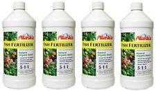 4 ea Alaska 100099247 Quart Fish Emulsion Liquid Organic Fertilizer
