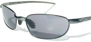 NEW* NIKE REVOLVE E Gunmetal Metal Wire Max Optics Grey Golf Sunglass EV0276 003