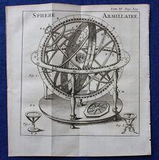 Original Antigua de impresión, con esfera, Noel Antoine Pluche, c.1752
