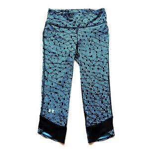 Under Armour HeatGear XS Compression Tights Blue Printed Pocket
