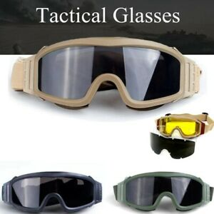 Tactical Air Paintball Safety Goggles Combat Glasses Military Shooting Hunting