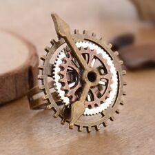Antique Steam Punk 3 Ring Clock Fear Fingering Ornaments for Women Men Jewelry