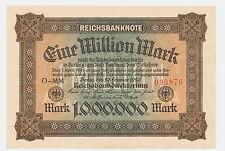 1 Milion Mark  Reichsbanknote  Berlin  1923 Ro. 85 a / P 86 Firma Zeichen O-MM