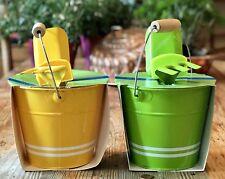 Nwt Kids Garden Tool Set 🌻 Bucket Spade Rake 🌷 Markers Pail Shovel Sign Wooden