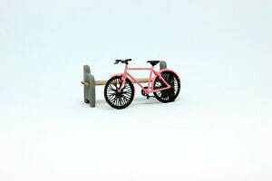 Exclusive! bicycle pink handmade 1:43