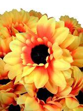 10 Kunstblumen Sonnenblumen | 45 cm Blüte Ø 12 cm | Strauß Dekoration NEU