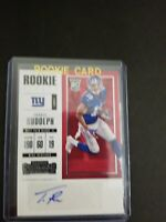 2017 TRAVIS RUDOLPH CONTENDERS ROOKIE AUTO TICKET MINT CONDITION VERY NICE CARD