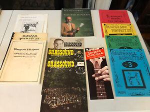 Large Lot Of Bluegrass, Gospel & Mandolin Books, Magazines