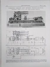 Combined Torsion And Tension Testing Machine: 1908 Engineering Magazine Print