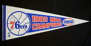 ⭐️ Vintage 1983 76ers NBA CHAMPIONS Pennant ☆ GENESEE BEER Basketball Sports #1