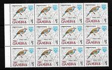 Gambia, 1966 Birds 0.5d Red-cheeked Cordon Bleu, MNH marginal block of 12 (G084)