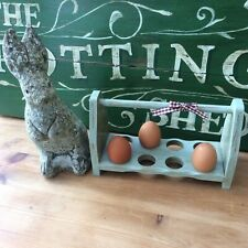 More details for *shabby~chic country cottage farmhouse style egg rack~holder~holds 8 eggs*