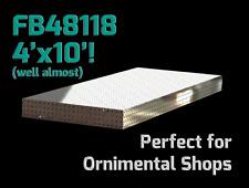 CertiFlat FB48118 4'X10' FabBlock DIY Modular Welding Table Top Kit - Heavy-Duty