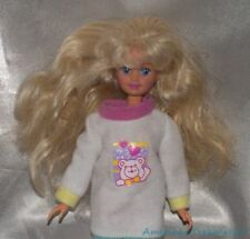 Barbie 1990s 1994 Teen Babysitter Skipper Doll Blonde Hair & Lilac Eyes w/Outfit