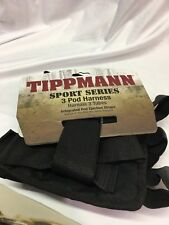 Tippmann Sport Series 3 Pod Harness with adjustable belt Black Paintball Pack