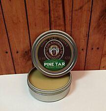 GRANDPA JOHNSON'S PINE TAR BEARD Balm BY 7 SINS BEARD OIL 2 OZ screw top tin