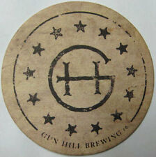 GUN HILL BREWING COMPANY Beer COASTER, Mat w/ CANNON, Bronx, NEW YORK in 2014